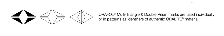 kennzeichnung zur authentifizierung der echtheit prismatischer orafol reflexfolien