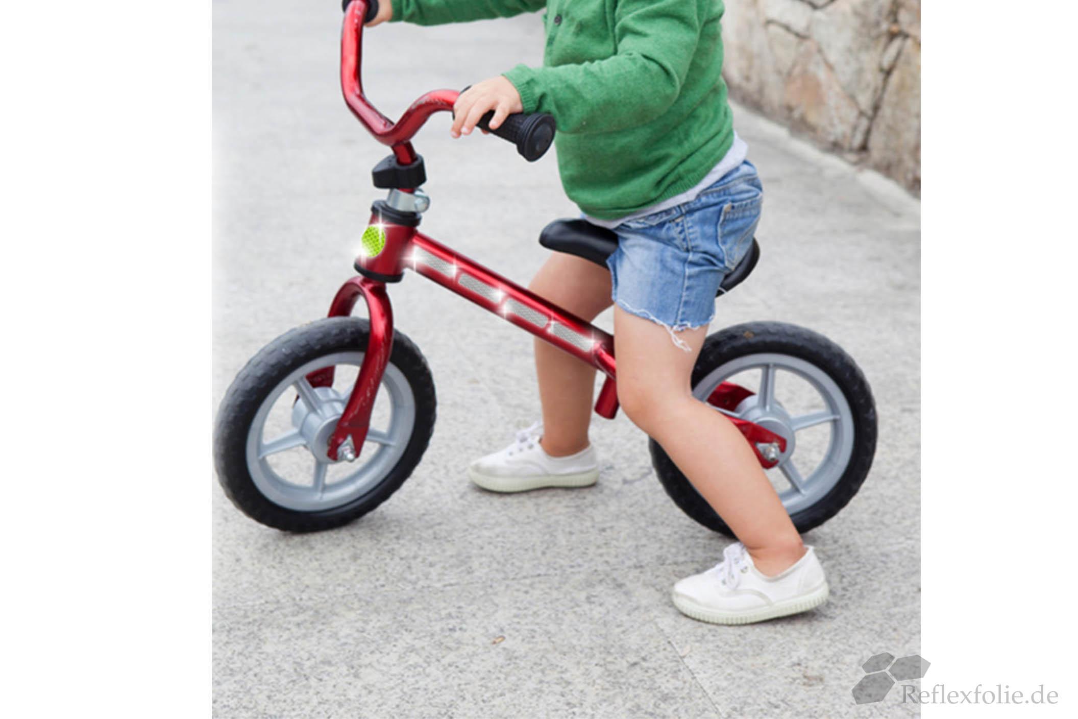 Reflexpunkte auf Kinderlaufrad