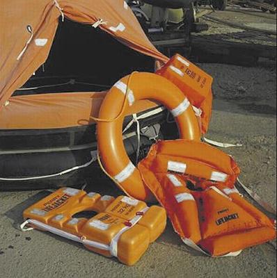 Solas-Grade Folie auf Seenotrettungsmitteln
