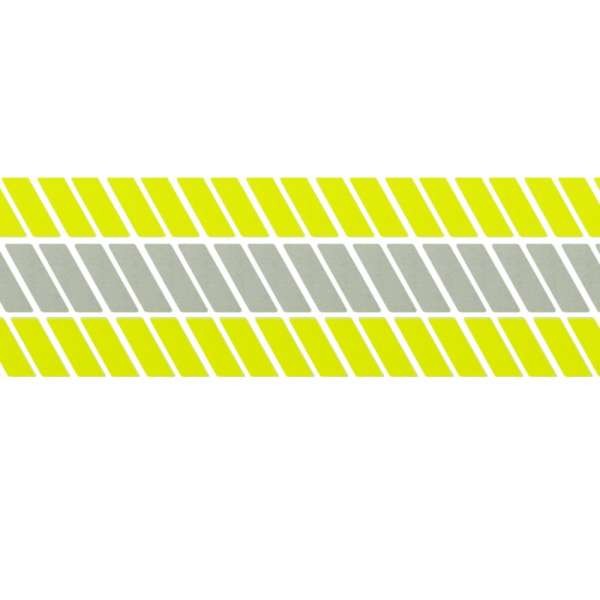 "Scotchlite Reflective Fluorescent Tape Fire Retardant Trim Lime Yellow 2/"" Wide"